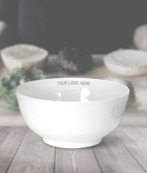 bowl,white bowl,ชาม,ชามเซรามิค,สกรีนชามเซรามิค,ชามก้นลึก