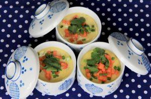 เมนูง่ายๆ เซรามิก เซรามิค ถ้วยเซรามิก ถ้วยเซรามิค ถ้วย ชาม ไข่ตุ๋น steamed egg ceramic อาหาร